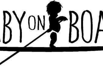 Baby on Board Standup Paddle Board vinyl decal