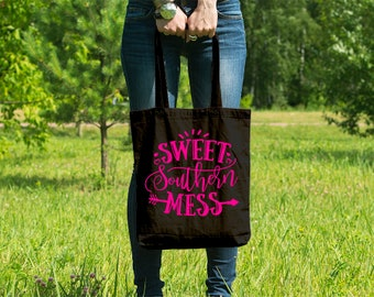 Sweet Southern Mess // Casual Cotton Canvas Tote