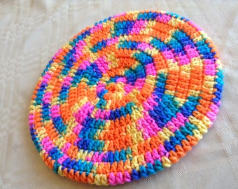 Fun In The Sun Children's Crocheted Beret/Slouchy Hat
