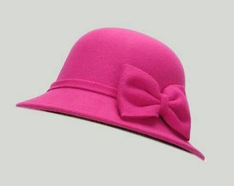 Pretty Pink Cloche Hat