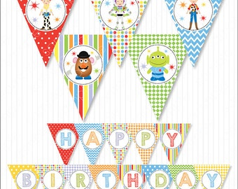 Toy Story Birthday Banners