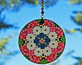 Mandala Suncatcher Daisy Chakra Boho Chic New Age Sacred Geometry Hippie Kaleidoscope Meditation Zen Unique Gift For Her Love Transcends
