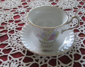 Darice Sister Cup And Saucer Set