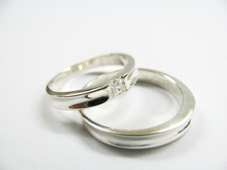 zoom - Swarovski Wedding Rings
