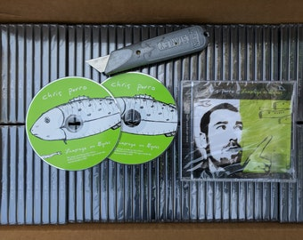 CD Art project identical CDs green fish