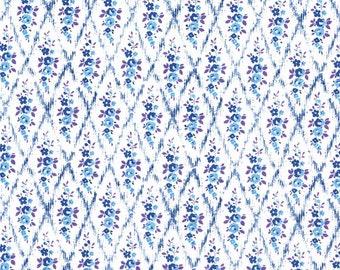 Liberty Fabric Mae B Blue Tana Lawn Fat Quarter