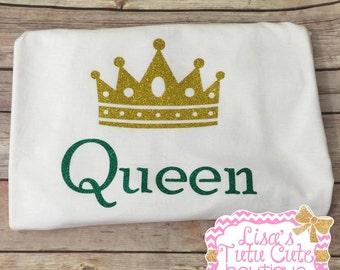 Women's Queen T-shirt. Queen shirt. Crown shirt. Queen tshirt