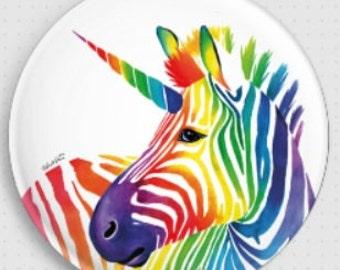 Needle Minder, Cross Stitch tool, Carissa Rose Art, Zebra Magnet, Cross Stitch Keeper, Fridge Magnet, Unicorn MagnetPin Keeper, Zebracorn