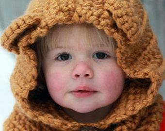 Baby Bear Crocheted Cowl