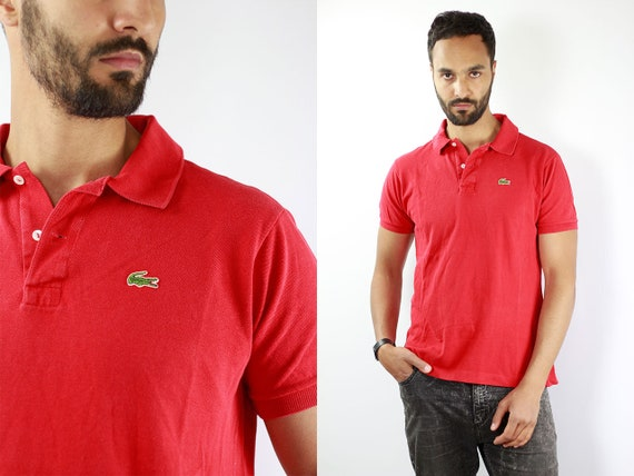 Lacoste Poloshirt Red Poloshirt Lacoste Polo Shirt Vintage Lacoste Polo Shirt Lacoste Shirt Red Polo Shirt Vintage Lacoste Shirt 90s Polo