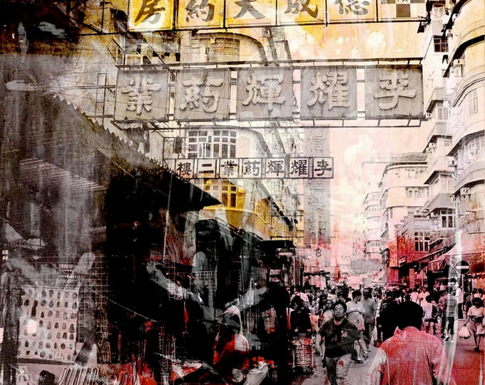 HONG KONG Streets X by Sven Pfrommer - Artwork is ready to hang