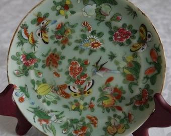 Chinese Antique 19th Century  Celadon Porcelain Plate