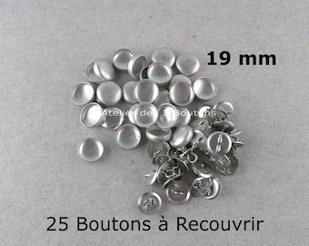 """25 Cover Buttons 3/4"""" (Size 30)"""