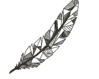 Geometric Leaf Embroidery Designs Embroidery Machine Instant Download Q8039