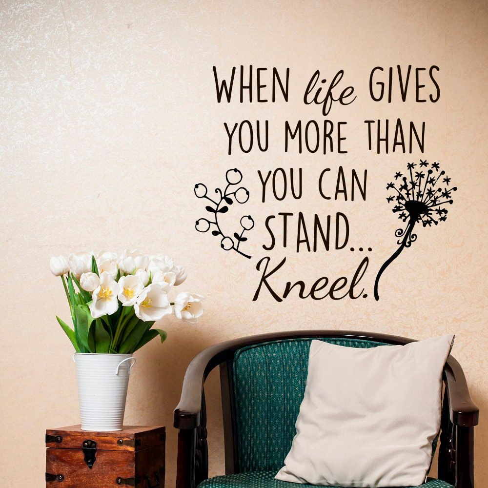 Life Wall Quotes Home Wall Decal Wall Decal Quote When Life Gives You More