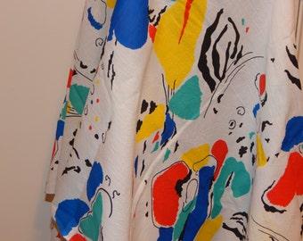 Vintage Retro 1980 's Cotton Fabric