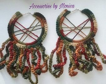 Big crochet hoops