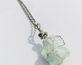 Hand wrapped flourite necklace