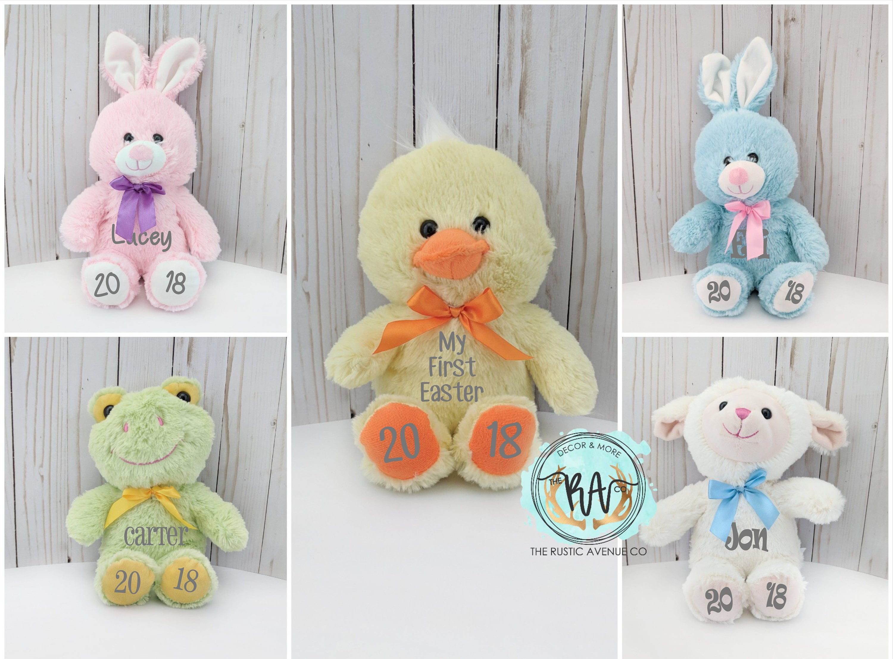 Easter bunnypersonalized plush easter basket request a custom order and have something made just for you negle Choice Image