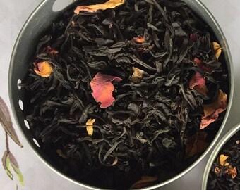 Charming Grey Earl Grey Tea -Best-Seller-High-Grade-Black-Tea- Loose-Leaf-Tea- Caffeinated-Creamy-Earl-Grey- Vanilla Lemon