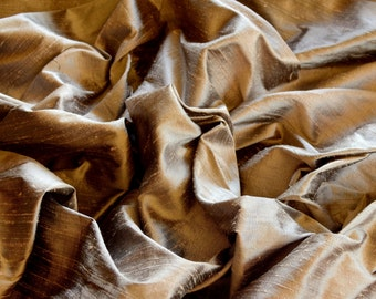"Iridescent Misty Rose Dupioni Silk, 100% Silk Fabric, 54"" Wide, By The Yard (S-143)"
