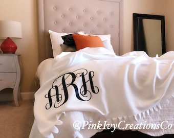 personalized stadium blanket, monogram throw blanket, custom lap blanket, fleece blanket, dad gifts from son, monogrammed gift, best selling