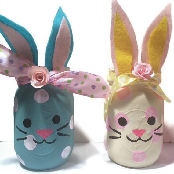 Bunny mason jars bunny jars bunny home decor bunny nursery bunny mason jars bunny jars bunny home decor bunny nursery decor bunny baby shower decoration bunny lover gift bunny vase easter negle Gallery