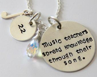 Music Teacher Gift, Gift For Music Teacher, End of Year Gift, Teacher Gift, Personalized Women Accessory
