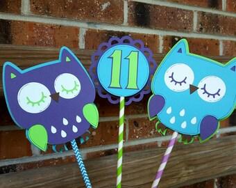 Owl Birthday Centerpiece