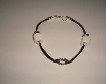 men's DIMITRI wood metal leather bracelet