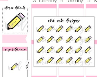 Kawaii Pencil Planner Stickers   146