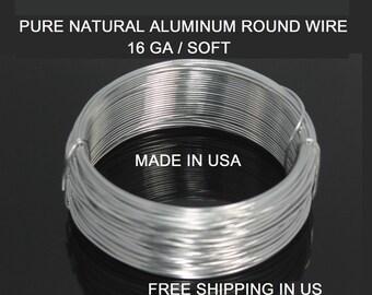 16 Ga / 50 Ft. Aluminum Wire Soft ,99.99% Pure Aluminum
