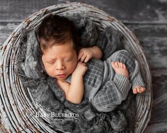 Newborn boy romper and hat set, newborn boy, newborn boy photography prop, baby boy, photography prop