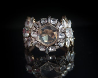 Crystal Bracelet, Crystal Statement Bracelet, Wedding Jewelry, Date Night Bracelet, Clear Crystal Bracelet, Gift