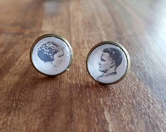 F. Scott Fitzgerald and Zelda Fitzgerald Earrings