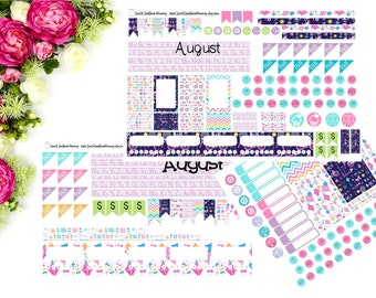 MONTHLY Personal OR Half Letter SMC Back to School Sticker Kit August September