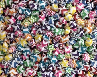 305 Origami Stars, Colorful Chevron Origami Stars, Party Decorations