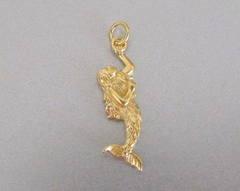 Gold Mermaid Charm - Silver Mermaid Charm