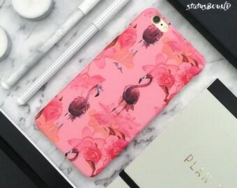 Flamingo iPhone Case iPhone 8 Case iPhone 8 Plus Case iPhone 7 Case iPhone 7 Plus Case iPhone 6S Case iPhone 6S Plus Case Matte Floral Pink