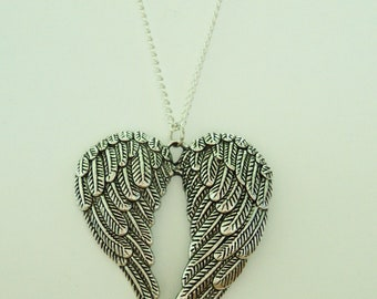 Guardian Angel Wings on 18 Inch Silver Chain