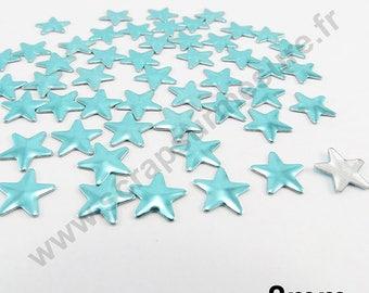 Fusible Star - Blue LAGOON - 8mm - x 75pcs