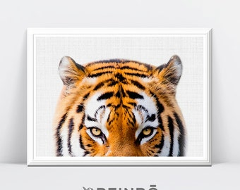 Tiger Print, Tiger Photography, Nursery Decor, Safari Animal, Safari Wall Art, Nursery Safari Decor, Printable Safari Art, Tiger Printable