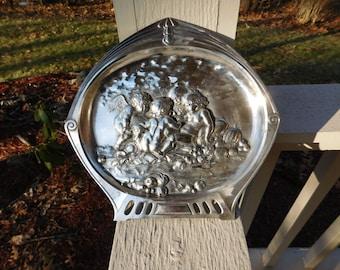 Vintage WMF Silver Plate Art Nouveau Jugendstil Cherubs Repousse Wall Hanging Plaque #365a - ca 1900 - from DustyMillerAntiques