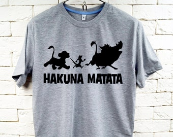 HAKUNA MATATA Gray T-Shirt For Men