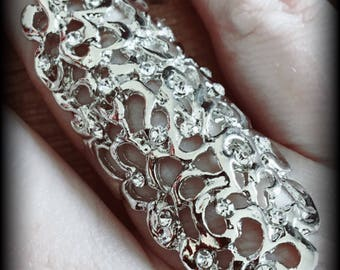 Silver knuckle ring