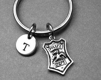 Police Keychain, Police badge keychain, Custom Keychain, Custom Key Ring, Police, Police Charm, Police Badge, Police Wife Keychain, police