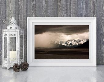 Brewing Storm - Turnagain Arm - Southern Alaska - Color Fine Art Photo Print