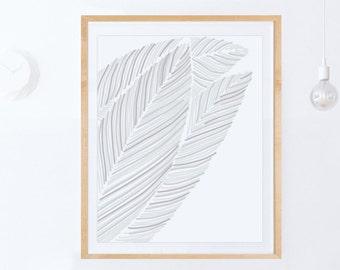 Digital Print, Scandinavian Decor, Modern Print, Simple Wall Art PRINTABLE ART Modern Minimalist Wall Art, Leaf Wall Art, Downloadable Print