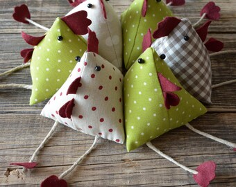 Tris of Bantams Homedecor in country style