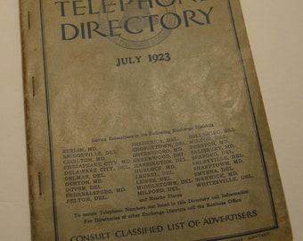 Diamond State Telephone Directory 1923